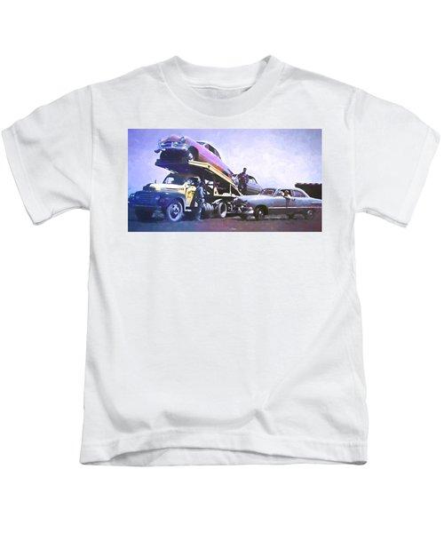 Vintage Ford Car Carrier Kids T-Shirt