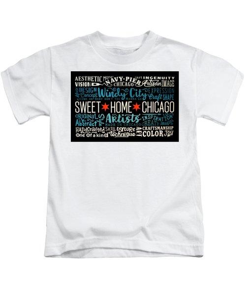 Wall Art Chicago Kids T-Shirt