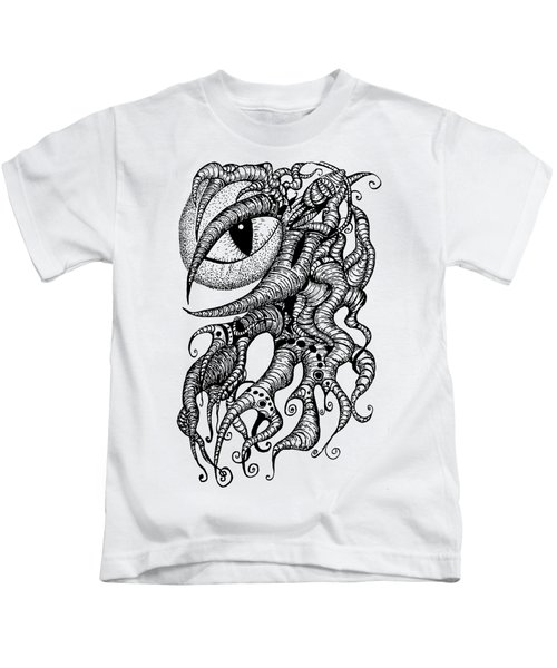 Watching Eye Creature With Tentacles Kids T-Shirt