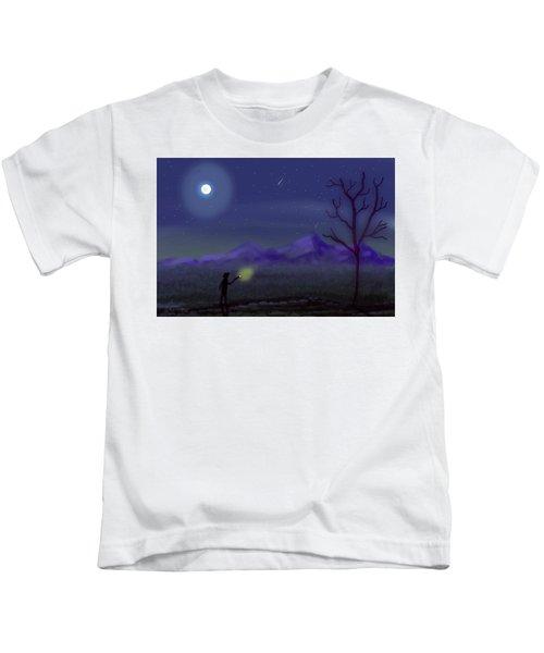 Watching Shooting Stars Kids T-Shirt