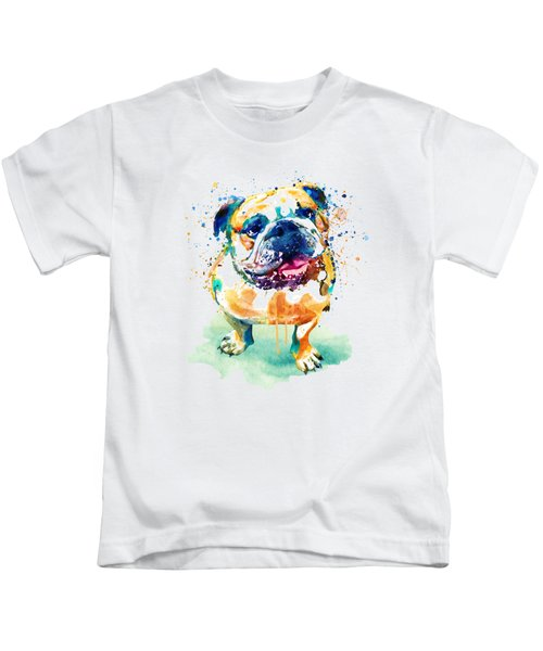 Watercolor Bulldog Kids T-Shirt