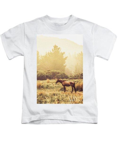 Western Ranch Horse Kids T-Shirt