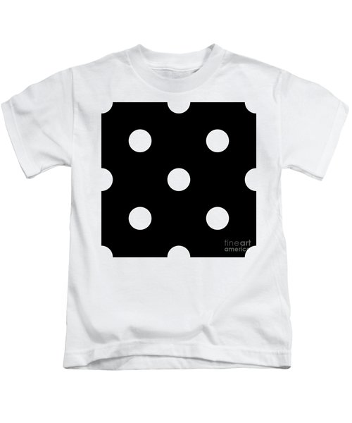 White Dots On A Black Background- Ddh612 Kids T-Shirt