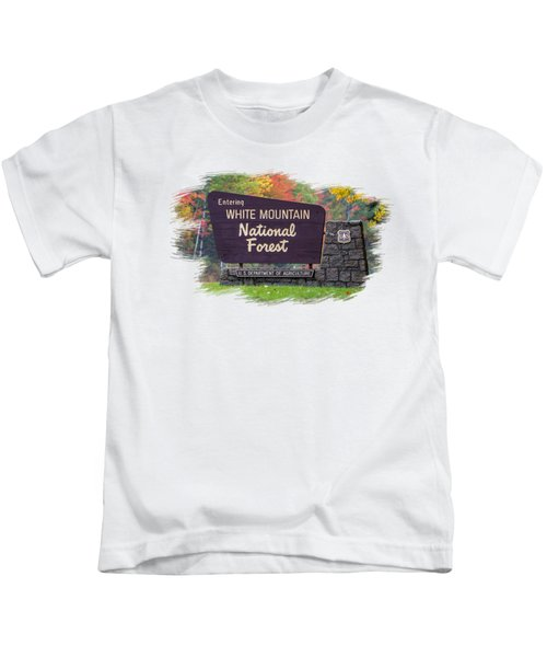 White Mountain National Forest Transparency Kids T-Shirt