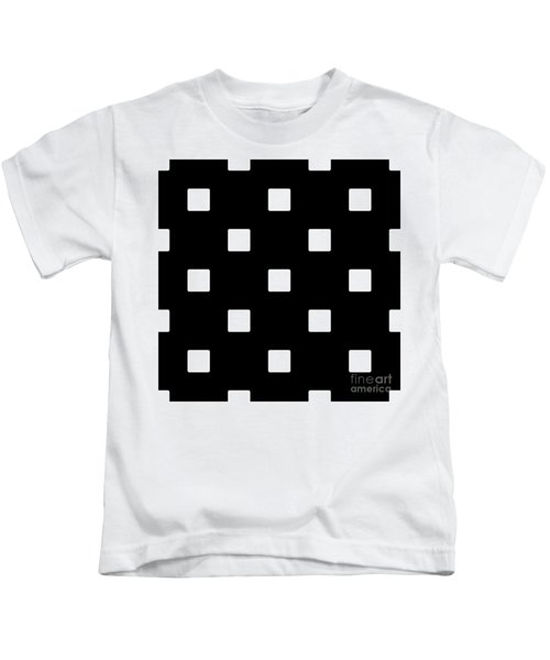 White Squares On A Black Background- Ddh576 Kids T-Shirt