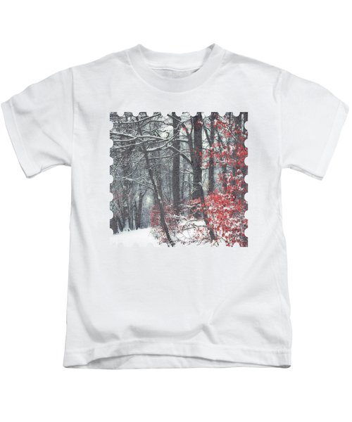 Winter Day - Snowy Forest Hike Kids T-Shirt