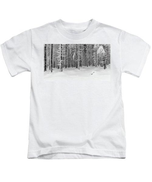 winter forest, Harz Kids T-Shirt