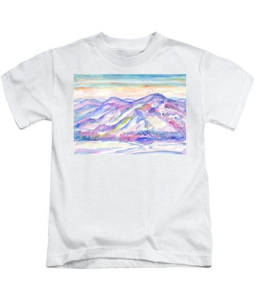 Winter Mountain Landscape Kids T-Shirt