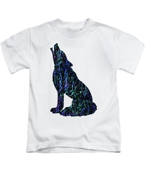 Wolf Watercolor Painting Kids T-Shirt