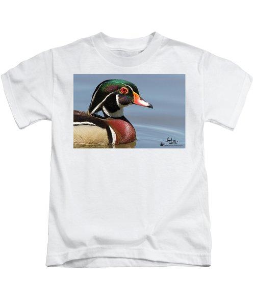 Wood Duck Portrait Kids T-Shirt