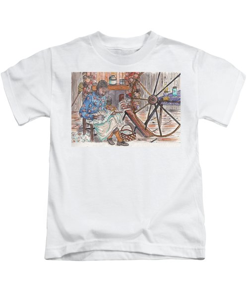 Working Cotton The Old Fashioned Way Kids T-Shirt