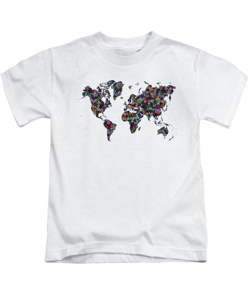 World Map-1 Kids T-Shirt