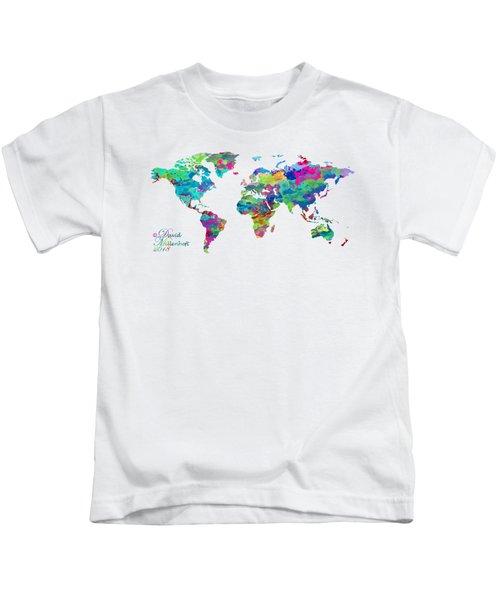 World Map Watercolor Kids T-Shirt