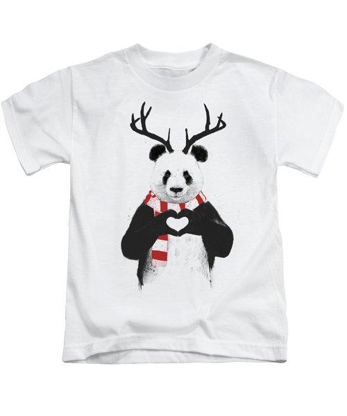 Xmas Panda  Kids T-Shirt