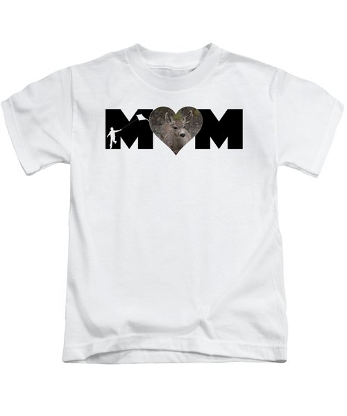 Young Doe In Heart With Little Boy Mom Big Letter Kids T-Shirt