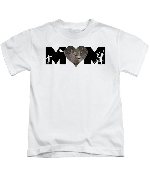 Young Doe In Heart With Little Girl And Boy Mom Big Letter Kids T-Shirt