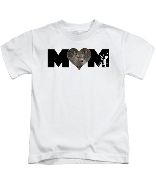 Young Doe In Heart With Little Girl Mom Big Letter Kids T-Shirt