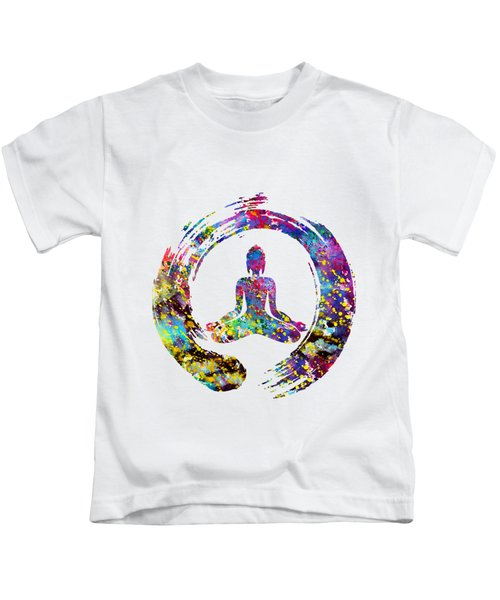 Zen Buddha-colorful Kids T-Shirt
