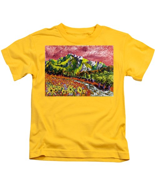 Yellow Flowers Kids T-Shirt