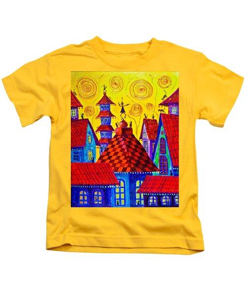 1099 Magic Town 4 - Gilded Kids T-Shirt