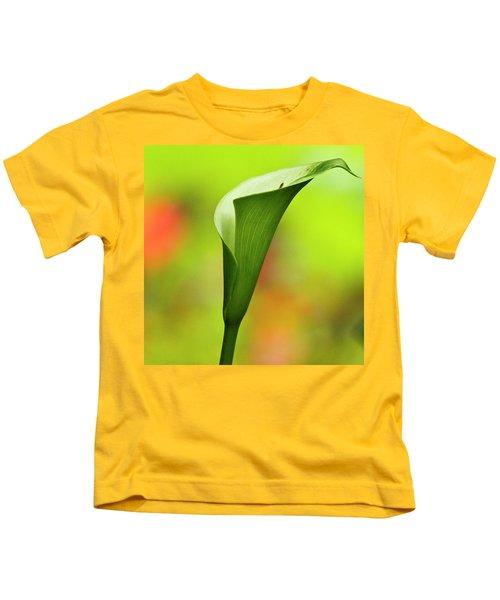 Green Calla Lily Kids T-Shirt