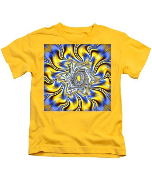 Abstract Spun Flower Kids T-Shirt