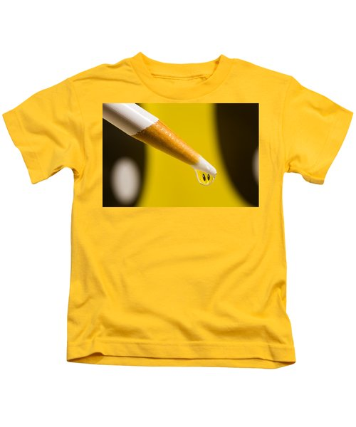 Happy Water Drop Pencil Kids T-Shirt