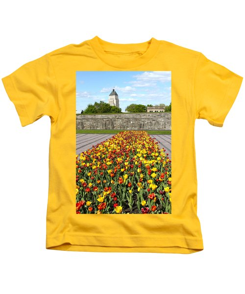 Tulip Garden In Canada 11 Kids T-Shirt