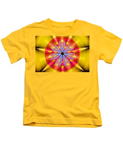 Geo-cosmic Sri Yantra Kids T-Shirt
