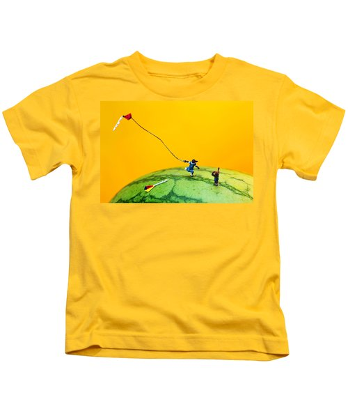 Kite Runner On Watermelon Kids T-Shirt