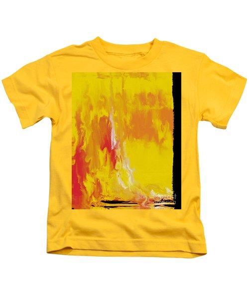 Lemon Yellow Sun Kids T-Shirt by Roz Abellera Art