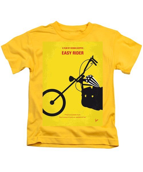 No333 My Easy Rider Minimal Movie Poster Kids T-Shirt by Chungkong Art