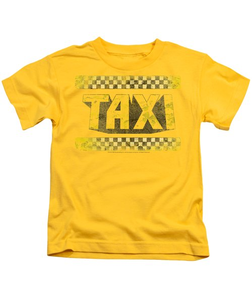 Taxi - Run Down Taxi Kids T-Shirt