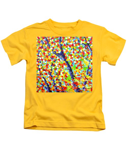 Tree At Fall Kids T-Shirt