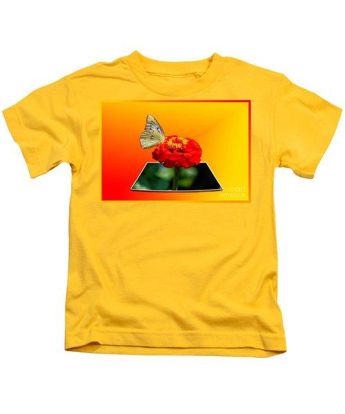 Yellow Butterfly Kids T-Shirt