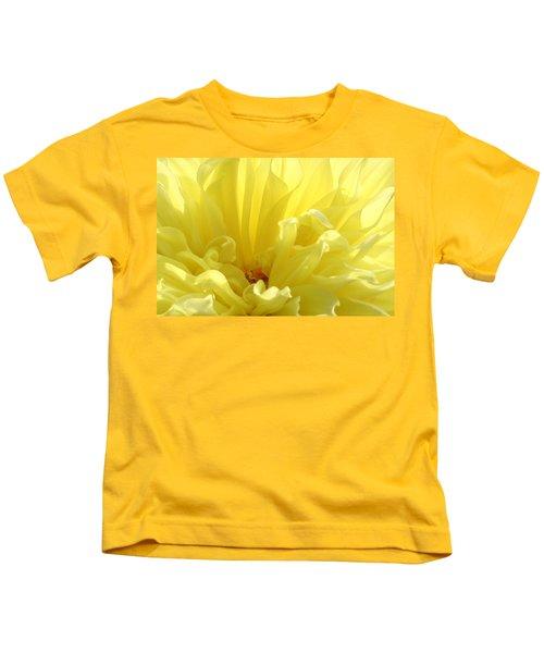Yellow Dahlia Burst Kids T-Shirt