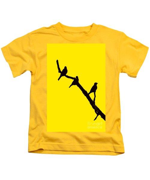 3 Birds On A Limb Kids T-Shirt