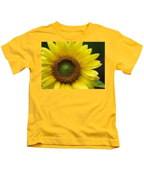 Sunflower With Insect Kids T-Shirt