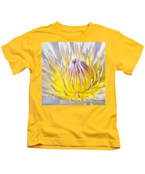 Blue Water Lily Kids T-Shirt