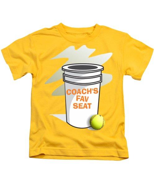 Coach's Favorite Seat Kids T-Shirt by Jerry Watkins