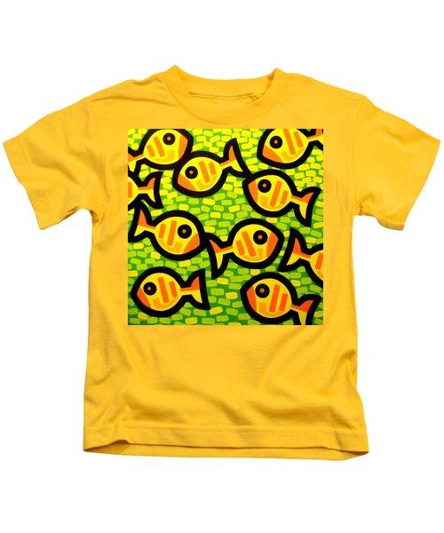 10 Yellow Fish Kids T-Shirt