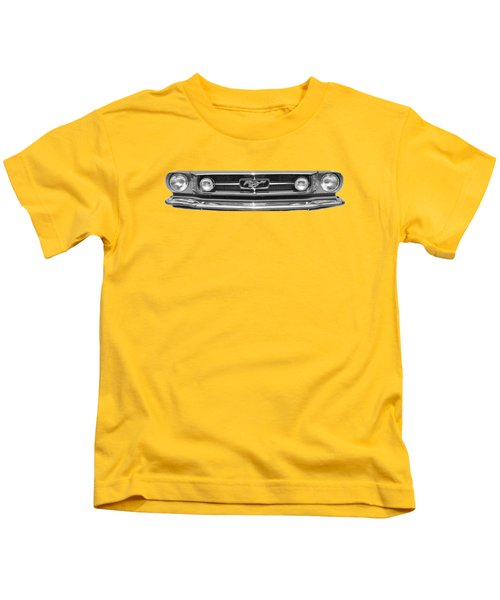 1965 Mustang Grilled Tee Kids T-Shirt