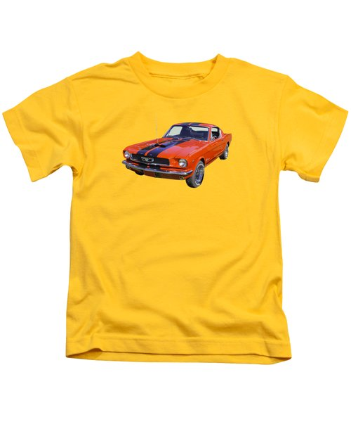 1966 Ford Mustang Fastback Kids T-Shirt