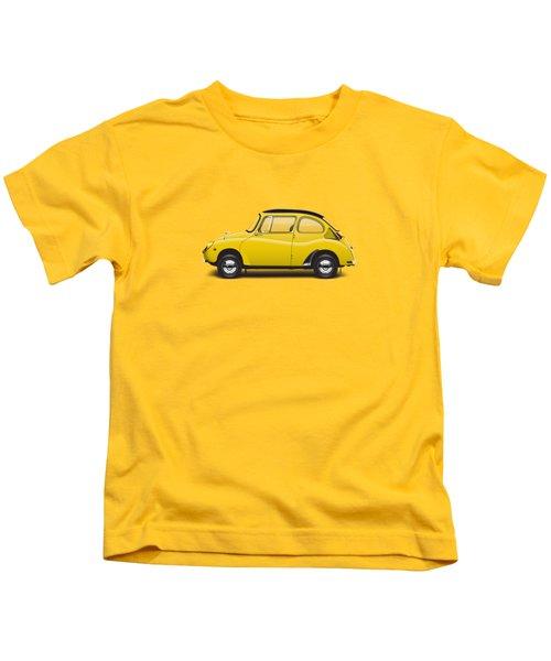 1969 Subaru 360 Young S - Yellow Kids T-Shirt