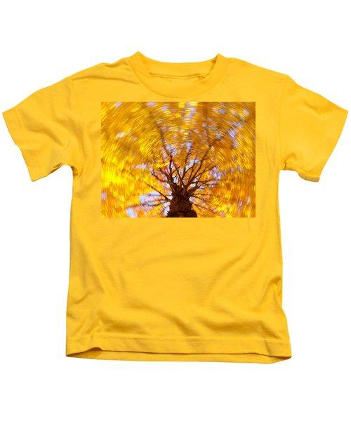 Spinning Maple Kids T-Shirt