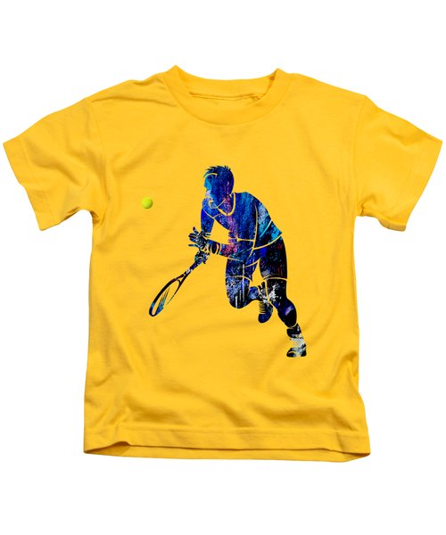 Mens Tennis Collection Kids T-Shirt by Marvin Blaine