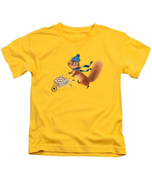 Acorn Industrialist Kids T-Shirt by Little Bunny Sunshine
