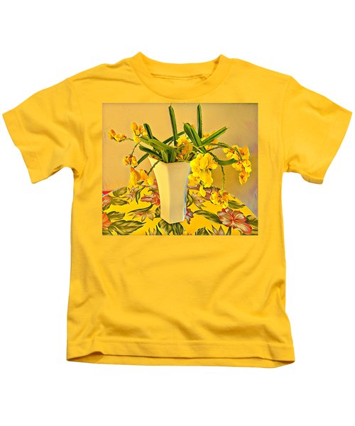 Aloha Bouquet Of The Day - Yellow Wild Flowers Kids T-Shirt