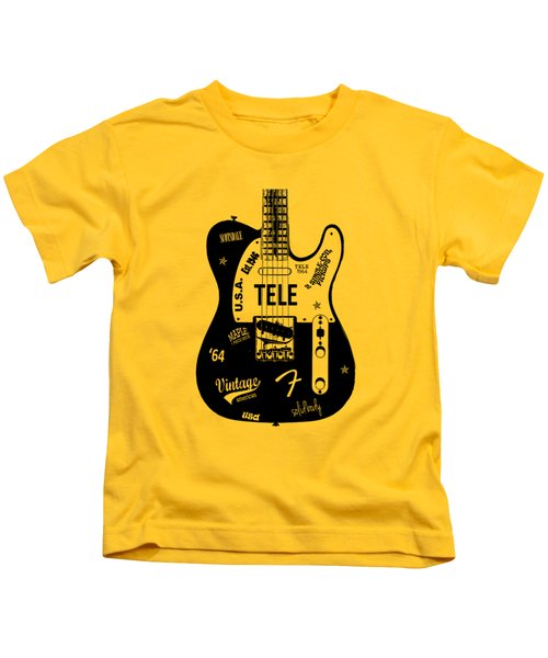 Fender Telecaster 64 Kids T-Shirt by Mark Rogan