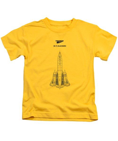 Sr-71 Blackbird Kids T-Shirt by Mark Rogan